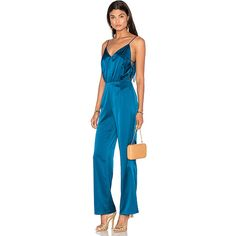 LPA Jumpsuit 15 ($305) ❤ liked on Polyvore featuring jumpsuits, rompers & jumpsuits, romper jumpsuit, playsuit jumpsuit, blue romper, blue jump suit and jump suit