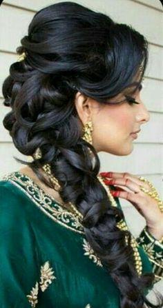 16 trendy wedding hairstyles indian bridal parties - New Site, . - 16 trendy wedding hairstyles indian bridal parties - New Site, - Bollywood Hairstyles, Wedding Hairstyles For Long Hair, Party Hairstyles, Wedding Hair And Makeup, Indian Hairstyles, Braided Hairstyles, Hair Wedding, Dress Wedding, Wedding Braids