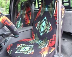 A Set of Southwest Print. Seat Covers and Steering by ChaiLinSews