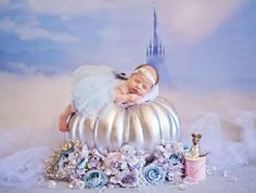 Photographer transforms newborns into tiny Disney princesses