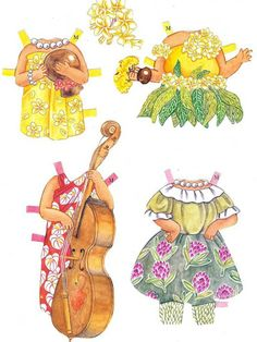 Beautiful HAWAIIAN FLOWERS Paper Dolls by Yuko Green - cleanhouse2000@hotmail center - Picasa Web Albums