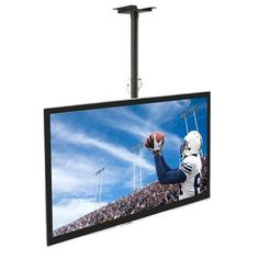 Mount-It! Ceiling TV Mount For 32 37 40 42 43 50 55 60 65 70 Inch Flat Panel Televisions, Articulating Hanging Swivel TV Pole Bracket Adjustable Height 175 Pound Capacity, Black Tv Ceiling Mount, Ceiling Projector, Ceiling Tv, Tv Mounting Brackets, Tv Brackets, 70 Inch Tvs, Full Motion Wall Mount, Swivel Tv, Plasma Tv