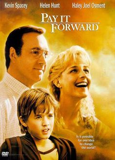 Based on a best-selling novel by Catherine Ryan Hyde and boasting the star power of two Oscar winners and a young nominee--Kevin Spacey, Helen Hunt, and Haley Joel Osment--PAY IT FORWARD spins a heart