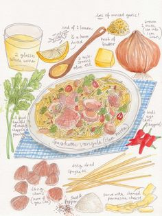 Spaghetti Vongole by  Dawn Tan #recipe