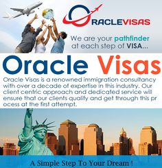 Oracle Visas - A simple step towards your dream  Immigration is a long and an expensive process, which ultimately helps in making your dreams come true. It is regarded as the gateway to a person's future and also termed as a life changing decision. It is necessary to note that nothing has to be left to change in the immigration process. There could be many obstacles attached with the immigration process like cumbersome documentation, frequently changing immigration rules ..........