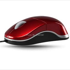 USB 3D Optical Scroll Wheel Mice Mouse For PC Laptop Notebook Computer Black Wired Mouse Blue and Red so on