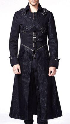 Veste noire homme avec zip, sangles, attaches et poches Punk Rave > JAPAN ATTITUDE - PUNKR0012   Shop : www.japanattitude.fr