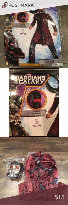 Star Lord Halloween Costume Full set. New in package. Star Lord Guardians of the Galaxy Halloween costume size M 7-8. Retail $21.99. Costumes Halloween