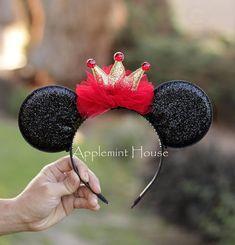 Birthday Minnie Mouse Ears headband, Mickey ears, Disney ears, Birthday Mickey Ears, birthday Ears, Black and red ears, gold ears Disney Diy, Diy Disney Ears, Disney Mickey Ears, Disney Crafts, Minnie Mouse Headband, Disney Headbands, Minnie Mouse Party, Ear Headbands, Minnie Birthday