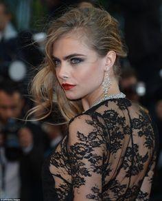 Le maquillage de Cara Delevingne au Festival de Cannes 2013