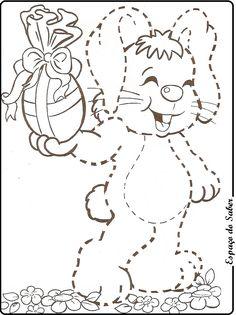 Coordenação motora coelho da Páscoa.  Este post pertence ao Espaço do Saber Se copiar, de os créditos Vos... Projects For Kids, Art Projects, Activity Sheets For Kids, Easter Coloring Pages, Yoga For Kids, Worksheets For Kids, Coloring Sheets, Easter Crafts, Easter Bunny