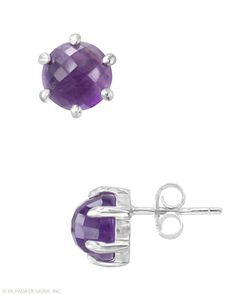 Adorn your lobes with these #orchid studs! What a Gem #Earrings