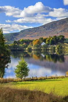 Loch Alvie near Aviemore in Scotland's Cairngorms National Park. Captured on a still afternoon in October.