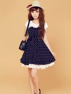 Pretty Ploka dot Short Dress