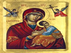 Greek orthodox Icons of the Most Holy and Ever-Virgin Theotokos, Mary, Panagia Archangel Gabriel, Archangel Michael, Russian Icons, Russian Orthodox, Crown Of Thorns, Thing 1, Blessed Virgin Mary, Orthodox Icons, Religious Art