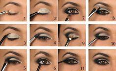 Smokey eyes schminken lernen- das Geheimnis des dramatischen Blicks