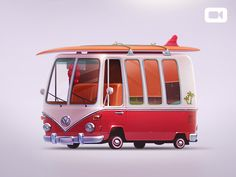 Volkswagen T1 by Artua #Design Popular #Dribbble #shots
