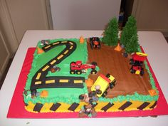 Pictures of Construction Cakes | 2nd Birthday Construction Cake — Children's Birthday Cakes
