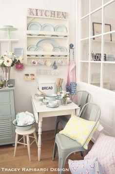 Flea Market Style, Pretty In Pink, Kitchens, Aqua, Shabby, Cottage, Boutique, Orange, Create