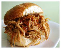 A pulled pork sandwich.