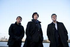 Watson, Holmes, Lestrade