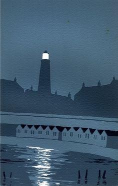 Southwold by Ian Scott Massie. 3 colour. 11 x 7.