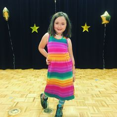#Dramaqueen posing center stage after helping with #JoyDecoEnterprised #Dance #Recital.