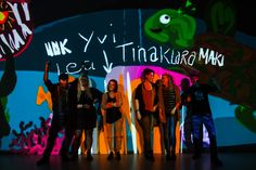 On Saturday the workshop Tagtool took place in the Ars Electronica Center, where participants transformed animations into projections and awakened digital paintings to life.