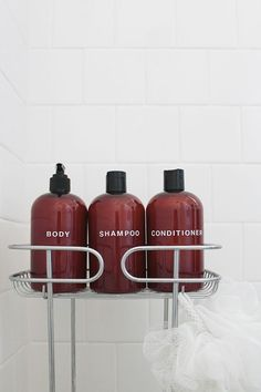diy pretty shampoo bottles