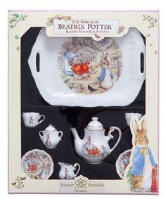 Children's Peter Rabbit tea set.