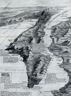 The Gallipoli Withdrawal, 1916 (This may be the coolest map I've seen all year)