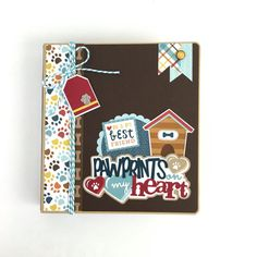 Dog Mini Album Kit or Premade Scrapbook Album Pet by ArtsyAlbums available on Etsy www.artsyalbums.etsy.com #scrapbooks #minialbums #artsyalbums