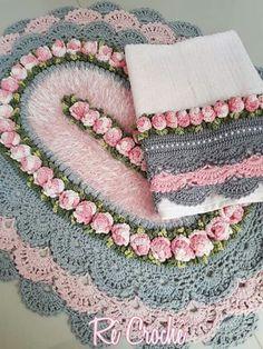 Free Crochet Doily Patterns, Crochet Doilies, Farm Crafts, Diy Crafts, Projects To Try, Shabby Chic, Stitch, Crochet Carpet, Jute Crafts