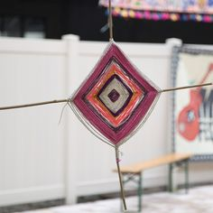 Our favorite way to adorn a place, with a God's Eye yarn-hanging!