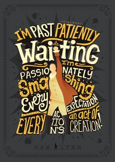 I'm laughin' in the face of casualties and sorrow. For the first time, I'm thinkin' past tomorrow! | Hamilton Lyric Posters (5/?)