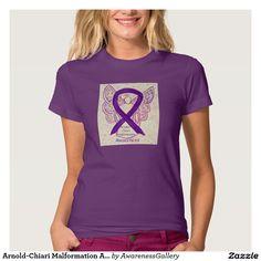Arnold-Chiari Malformation Awareness Ribbon Angel Art Shirt