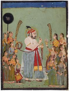 Maharana Jagat Singh (1734-1751) of Mewar in his harem