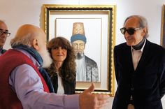 Ospite speciale oggi pomeriggio alla Galleria d'Arte Artemisia di Perugia, il Maestro Franco Battiato ha fatto tappa in Umbria e ha visitato la personale della perugina Anna Maria Artegiani (per la cui Mostra ha scritto alcune didascalie di alcuni quadri)