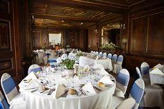 Wedding breakfast at East Dene Bonchurch #blue