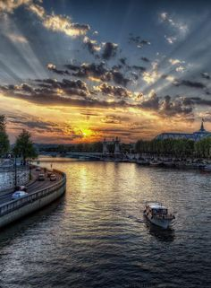 Seine River,Paris,France