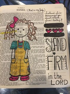 Stand firm in the Lord. Scripture Art, Bible Art, Bible Scriptures, Bible Drawing, Bible Doodling, Bible Journaling For Beginners, Art Journaling, Christian Images, Faith Bible
