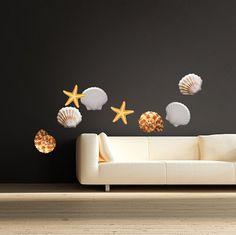 Sea Shell Vinyl Wall Or Window Decals Seashells por PrimeDecal