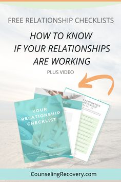 Are you wondering if your relationships are working? Assessing the health of your relationships is part of growth and seeing what's working and what are areas of growth. In this free guide, there are three separate checklists, journal prompts plus a short video to walk you through the process. You will learn a lot about yourself and those you love! #relationships #marriage #intimacy #relationshipadvice #marriageadvice #relationship #codependency #codependent Relationship Problems, Relationship Advice, Relationships, When To Let Go, Codependency Recovery, Relapse Prevention, Improve Communication, Self Care Activities, Addiction Recovery