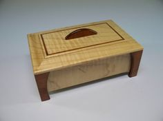 Maple & Bubinga Leg Box- Lacquer Finish, Treasure Box, Home Decore, Trinket Box, Small Wooden Box, Keepsake Box, Handcrafted  Gift Idea on Etsy, $70.00