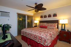 Aina Nalu Resort #G1404101 West Maui Condo for Rent | Maui Hawaii Vacations Master Bedroom with A/C and King Bed