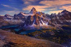 Earth Mount Assiniboine  Canada Landscape Earth Forest Mountain Lake Panorama Wallpaper