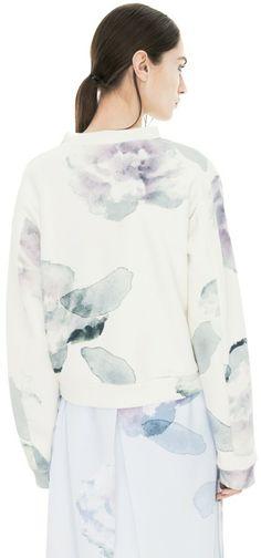 cc4351393153cd Bird Print Exploded Flower sweatshirt. Kishene · t o p s