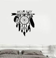 Vinyl Decal Dream Catcher Dreamcatcher Amulet Bedroom Wall Stickers (ig3355) #Wallstickers4you #VinylArt