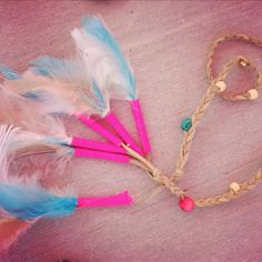 DIY feathers, beads, braids