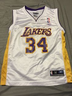 32ce3219b Shaquille O Neal Los Angeles Lakers Reebok Jersey Youth Sz Medium  NBA   Basketball from